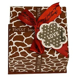 Leopard Print Paper Box - Brown