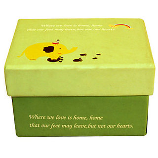 Welcome Home Paper Box -Green