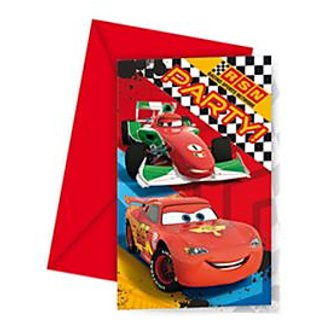 Cars Invitations  Envelopes