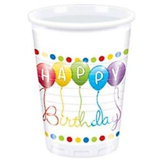 Happy Birthday Streamers Plastic Cup