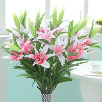 Simulation Flowers Lily Artificial Plants -Light pink