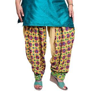 SKEthnicIndia Womens Phulkari Work Punjabi Patiala Cotton Salwar Free Size