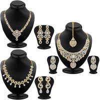 Sukkhi GoldenSilver Gold Plated Combo Of Necklace Set For Women