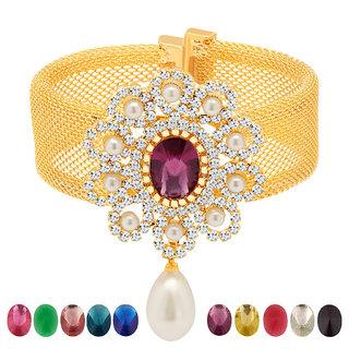 Sukkhi Multicolor Alloy Gold Plated Bracelets For Women