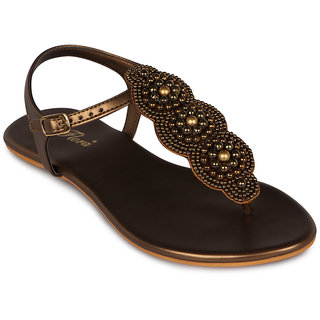 Flora Casual Wear Copper Flat Sandal