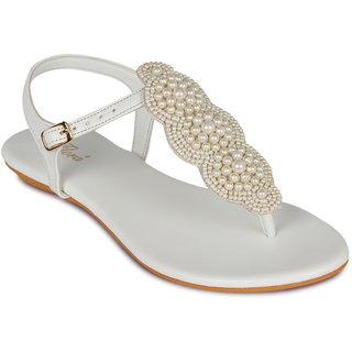 Flora Casual Wear WhiteFlat Sandal