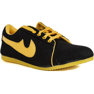 Runner Chief Mens Black - Yellow Sneakers