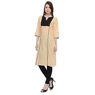 Vandy Crafts  Beige Cotton Kurti