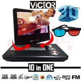 3D Victor Portable DVD Player With 7.5 Inch Led Screen HD