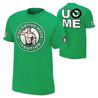 John Cena Tshirt T shirt GREEN Made in India Designer Tshirt (Size-XXL)