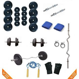 Body Maxx 20 Kg Weight Lifting Package + 3 Ft Bar + Dumbbells Rods + Gifts at Rs.999 – Shopclues.com Offer