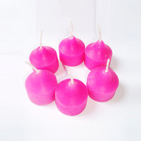 Farben Pink Color Designer Wax Candles (Pack Of 6)