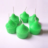 Farben Green Color Designer Wax Candles (Pack Of 6)