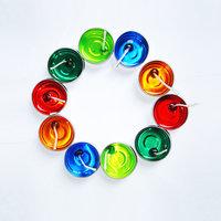 Farben Multi Color Designer Gel Candles (Pack Of 10)