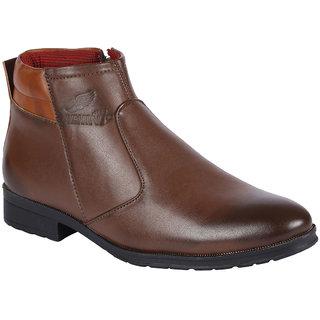 Bachini Mens Brown Zip Boots