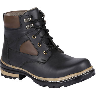 Bachini Mens Black Lace-up Boots