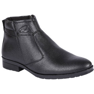 Bachini Mens Black Slip on Boots