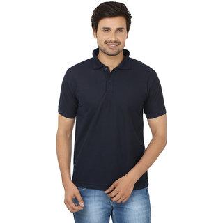 Focil Navy Regular Fit Polo T Shirt For Men
