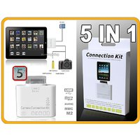 New 5-in-1Camera Connection Kit And Card Reader For Apple IPad / IPad 2 / IPad 3