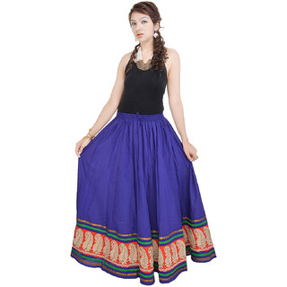 Rajasthani Blue Cotton Skirt
