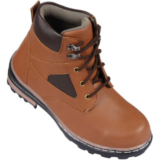 Bachini Mens Tan Ankle Length Boots