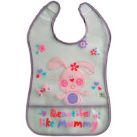 Mee Mee Little Foodies Plastic Bib  MM-3772-Purple