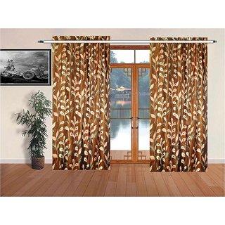 Classic Designer Jacquard Window Curtains Rust color