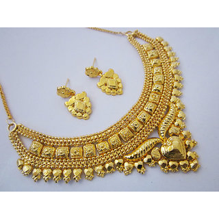 One Gram Gold Plated Beautiful Necklace Earrings Jewellery Set