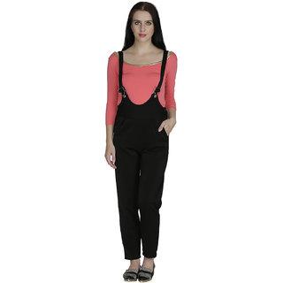 Svt Ada Collections Cotton Lycra Black Color Jumpsuits