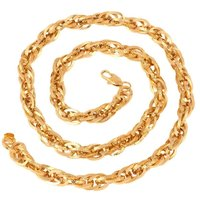 The Jewelbox Honey Singh Gold Plated Inter Links Heavy Broad Mens Chain 24