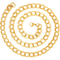 The Jewelbox 22K Gold Plated Italian Broad Multi Links 23.6