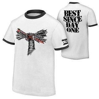 CM Punk Tshirt WHITE Tshirt Made In India Designer Tshirts (Size-XL)