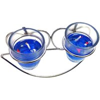 Designer Candle - Unique Arts Beautiful Pair Of Gel Candles With Stand