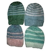 New Born Baby Multicolour Woolen Caps (Set of 4)