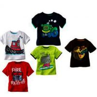 Kids' Round Neck Printed Cotton T-shirt (Set of 5)