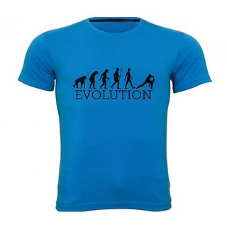 Sportskeeda Evolution Cricket Blue T-shirt