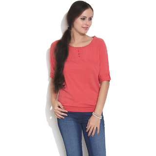 Espresso Classic Vintage Washed Top Red