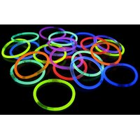 5pcs Neon Glow Sticks Band With Assorted Colors Straw
