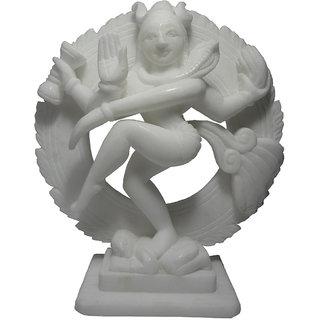 Avinash Handicrafts White Stone Natraj 6
