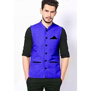 Striped BLUE Nehru Jacket