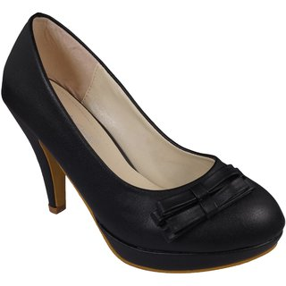 LADELA Jelly Heel Shoes (R666-1-Black)