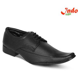 Indo Black Formal Shoes (PRN0042NL) For Men