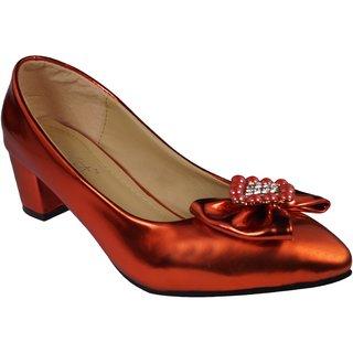 LADELA Sparkling Heel Shoes (R729-7-Red)