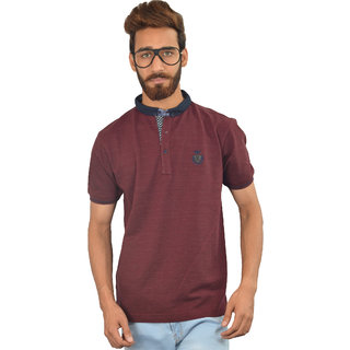 Maroon Solid Urban Trail T-shirt