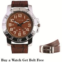 Tanz Combo Offer Buy Watch Tw012  Get Brown Belt Free