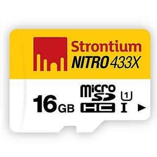 Strontium 16GB Nitro MicroSDHC Card 433X Class 10