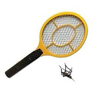 Black,Yellow Plastic Mosquito Repelling Racket