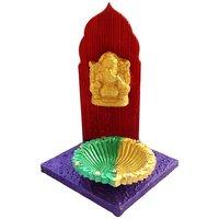 Diya - Unique Arts Designer Diya Stand With Ganesha