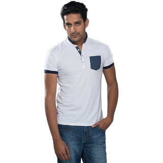 Mavango Ravishing Casual Basic White T-shirt for Men