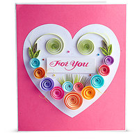 Handmade Quilled For you Greeting Card by Handcrafted Emotions (HE015)